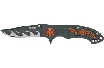 Mtech Chopper Linerlock Knife, 4.5in. Closed MT213OR
