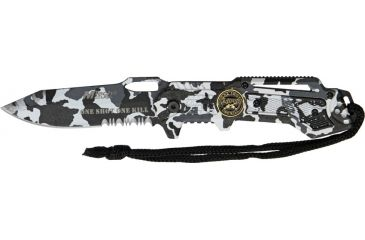 Mtech Linerlock Law-Military Knife, 4.75in. Closed MT570DW