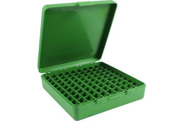 MTM 100 Round 45ACP/10MM Green Pistol Ammo Box P1004510