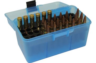 3-MTM H50 Ammunition Box .22-250 to .308 Winchester Blue H50-RM-24
