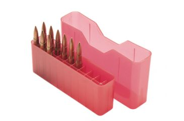 MTM J-20 Slip-Top Boxes .300 to 7mm Magnum Caliber Clear Red J-20-LLD-29
