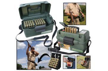 "MTM Shotgun Hunter Case & Ez-Grab Shotshell Holster 100 Round 12 Gauge Up To 3.5"" SH100-12-11"
