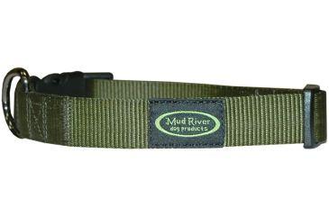 Mud River Bootlegger Nylon Collar, S/M Green 15in.-20in. SB-506-MSMG