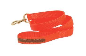 Mud River Duke Lead nylon webbing w/ Clip & leather,Blaze Orange 18383