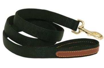 Mud River Duke Lead nylon webbing w/ Clip & leather Green 18386
