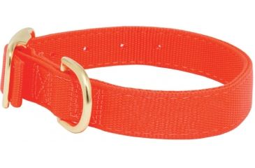 Mud River Scout Collar Nylon webbing, L Blaze Orange 18420