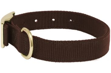 Mud River Scout Collar Nylon webbing, S Brown 18414