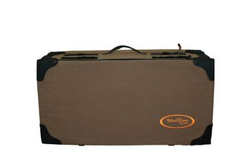 Mud River The Frisco-Brown-wax canvas Travel Dog Bed, Brown MR2024