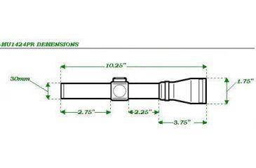 Mueller SpeedShot 1-4x24mm Rifle Scope