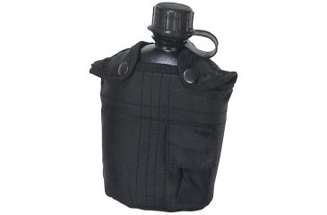 Mustang Black Fabric Covered Canteen, 1 Qt. FP13618