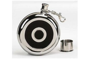 Mustang Stainless Steel Flask w/ Cup, 8 oz. FP13616