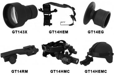 N-Vision Optics GT-14 Night Vision Monocular Accessories GT14EG, GT14HC, GT14HMC, GT14HEMC, GT14RM, GT143X, GT14HEM