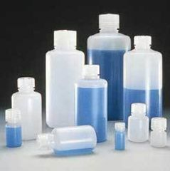 Nalge Nunc Boston Round Bottles, HDPE, Narrow Mouth, NALGENE 312002-0004