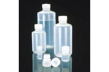 Nalge Nunc Boston Round Bottles, Polypropylene, Narrow Mouth, NALGENE 2006-0032