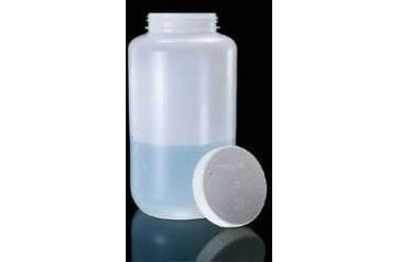 Nalge Nunc Large Sample Bottles, High-Density Polyethylene, Wide Mouth, NALGENE 2120-0005