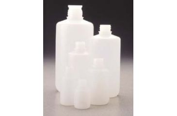 Nalge Nunc Packaging Bottles, High-Density Polyethylene, Narrow Mouth, without Screw Caps, NALGENE 362089-0032