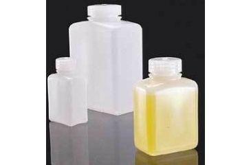 Nalge Nunc Rectangular Bottles, High-Density Polyethylene, Wide Mouth, NALGENE 2009-0032 Amber