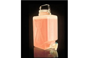 Nalge Nunc Rectangular Carboys with Spigot and Handle, Fluorinated High-Density Polyethylene, NALGENE DS2327-0050