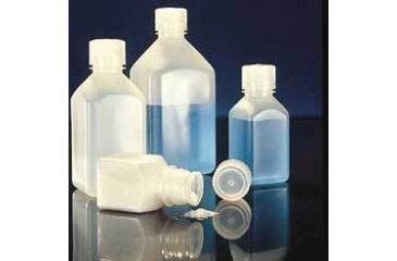Nalge Nunc Square Bottles, High-Density Polyethylene, Narrow Mouth, NALGENE 2018-1000