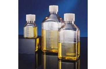Nalge Nunc Square Media Bottles, PETG, Sterile, Graduated, NALGENE 2019-1000