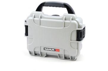 Nanuk 903 Hard Plastic Waterproof Case, Silver 903-0005