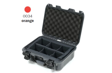 Nanuk 915 Case, Open, Orange w/ Padded Divider