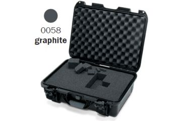 Nanuk 920 Case, Open, Graphite w/Cubed Foam