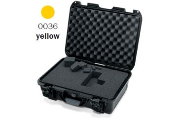 Nanuk 920 Case, Open, Yellow w/Cubed Foam