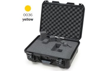 Nanuk 930 Case, Open, Yellow w/Cubed Foam