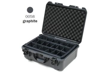 Nanuk 940 Case, Open, Graphite w/ Padded Divider