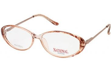 National NA0002 Eyeglass Frames - Shiny Light Brown Frame Color
