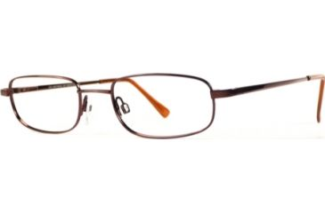 National NA0028 Eyeglass Frames - Shiny Dark Brown Frame Color