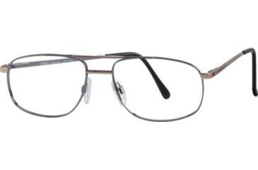 National NA0230 Eyeglass Frames - Shiny Gun Metal Frame Color