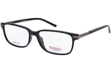 National NA0231 Eyeglass Frames - Shiny Black Frame Color