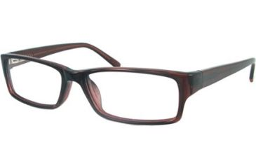National NA0300 Eyeglass Frames - Shiny Dark Brown Frame Color