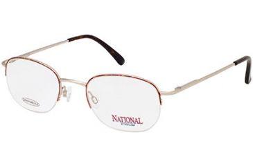 National NA0303 Eyeglass Frames - Gold Frame Color