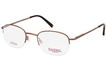 National NA0303 Eyeglass Frames - Matte Light Brown Frame Color