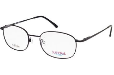 National NA0304 Eyeglass Frames - Matte Black Frame Color