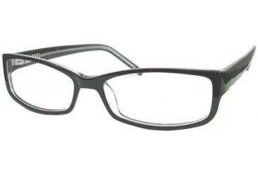 National NA0309 Eyeglass Frames - Black/Crystal Frame Color