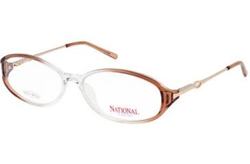 National NA0310 Eyeglass Frames - Shiny Light Brown Frame Color