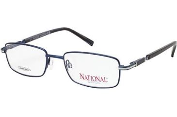 National NA0314 Eyeglass Frames - Shiny Blue Frame Color