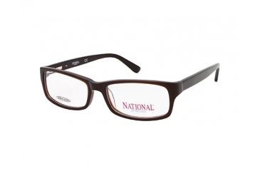 National NA0317 Eyeglass Frames - Shiny Dark Brown Frame Color