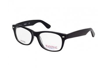 National NA0321 Eyeglass Frames - Shiny Black Frame Color