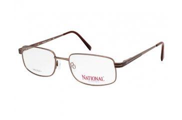 National NA0322 Eyeglass Frames - Shiny Dark Brown Frame Color