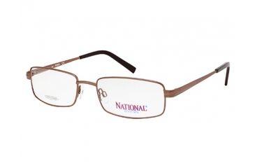 National NA0323 Eyeglass Frames - Shiny Dark Brown Frame Color