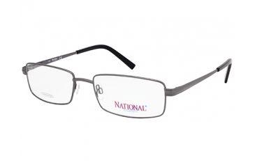National NA0323 Eyeglass Frames - Shiny Gun Metal Frame Color