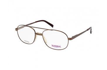 National NA0324 Eyeglass Frames - Shiny Dark Brown Frame Color