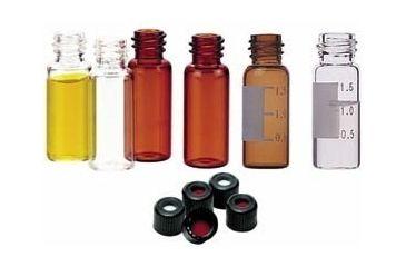 National Scientific 8-425 Screw-Thread Vials, National Scientific C4013-98W Caps
