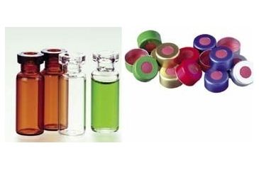 National Scientific Standard Opening Crimp-Top Vials, National Scientific C4012-1W Vials Clear Vials With Id Patch