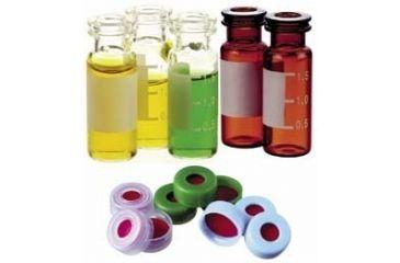 National Scientific Target Snap-It Crimp-Top/Snap-Cap Vials, National Scientific C4011-S6W Vials Amber Target I-D Vials, Silanized